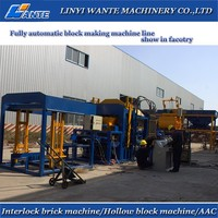2015 WANTE BRAND Big capacity QT10-15 automatic concrete block production line,used brick making machine for sale