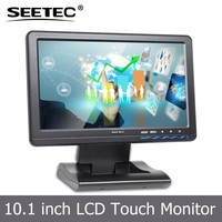 10.1'' Image Flip Lcd monitor 5 Wire Resistive Screen VGA HDMI YPbPr inputs touch panel car display for DVD GPS system
