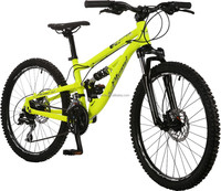 FUSION, 24INCH, KIDS AND PARENTS, DUAL SUSPENSION MTB FROM GOLDEN WHEEL, 24 SPEED, DOUBLE HYDRAULIC DISC BRAKES, ALLOY FRAME