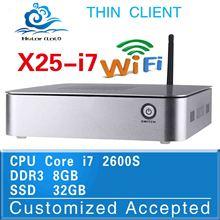 Computer Intel Core i7 X25-I7 2600s 8G RAM 32G SSD Window 8.1 Fan Thin Client Mini PC 2.8Ghz Desktop Computer