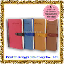 2015 stationery pu leather cover daily diary for office and school