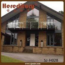 Side mounted Terrace/Veranda/Balcony glass railing/tempered glass deck railing