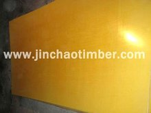 Yellow film faced plywood used for construction