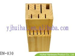 Natural Pine Wooden Knife Block EM-030