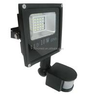 Outdoor 10w SMD PIR sensor led flood light