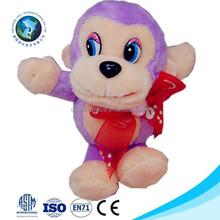 2015 Custom fashion small plush monkey keychain cute stuffed plush soft purple monkey toy mini plush soft toy monkey