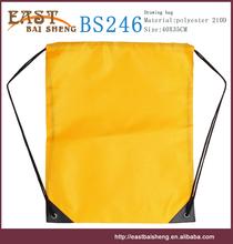 2015 Alibaba China promotional 210D draw string bag polyester drawstring bag
