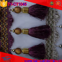 new arrived china wholesale polyester decorative fringe tassels for curtains