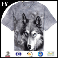 Factory high quality digital cotton wolf print fabric