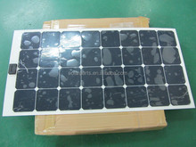 china factory 100W sunpower solar cell fabric folding solar panel for charging electrical equipment battery