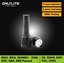 650 lumen diving flashlight underwater fishing torch 18650 flashlight rechargeable