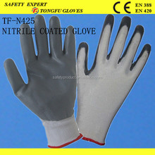 Cheap 13g nylon nitrile coated working gloves,oil field working gloves,saftey working gloves