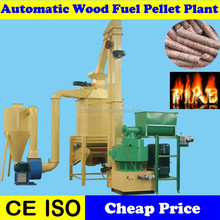 Bio Fuel 1.5Ton Output Pellet Wood Mill Production Line