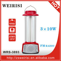 Rechargeable Lantern with fluorescent tubes & FM radio