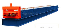 1100 Glazed Roofing Tile Roll Forming Machine In Canton Fair