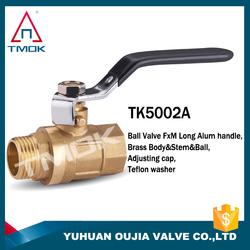 brass ball valve for korea lock water meter brass ball valve for lock water meter