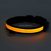 Low price christmas light dog collar, hot selling solar led Dog Collar for pets safety,pet collar