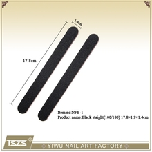 NFB-1 hot sell professional nail file Black Straight file