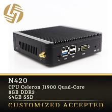 High speed small form factor 8gb ram slim pc J1900 mini itx case
