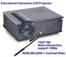 Interactive LED projector with white board for Educaiton, Office meeting,led lamp 4000 lumens children's education beamer
