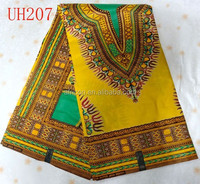UH207 latest style african printed wax fabric for cloth