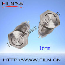 standard packing 50pcs/lot 5a 250v Momentary 16mm Round Push button switch metal lamp switches
