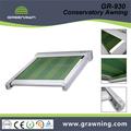 Greenawn aluminio pérgola para sombrilla