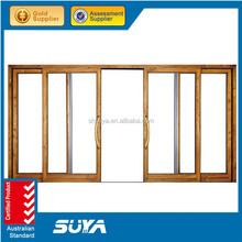 Top grade de alumínio porta frame / alumínio de correr duplo vidro da porta exterior