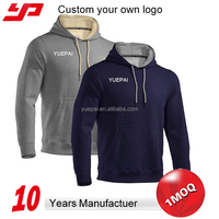 Wholesale design your own mens custom blank pullover hoodie without zipper