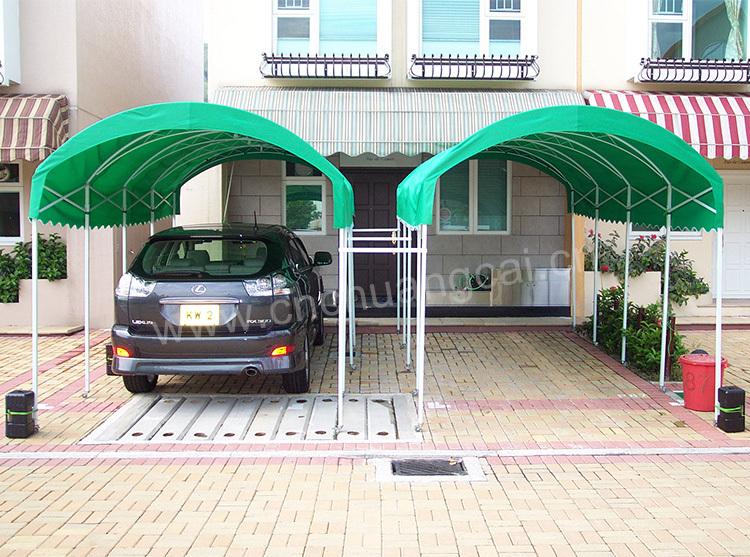 Toile de toit de voiture pliage abri voiture garage toit - Abri voiture en toile ...