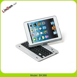 Rotatable keyboard case for ipad mini, backlingt keyboard for ipad mini, mini keyboard case with backling for ipad mini