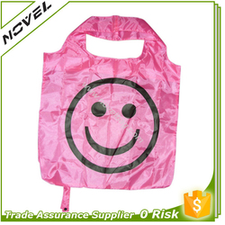 Pink Foldable Grocery Shopping Bag for Promotion