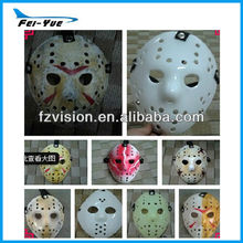 Plastic red white black freddy vs jason Halloween mask