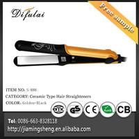 Luxury Gold Brand Names Hair Straighteners Ceramic Hair Straighteners Wholesale