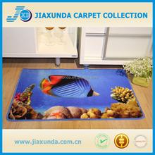 Customized pattern loop pile print coral rug