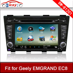 Bway car video player for Geely EMGRAND EC8 car DVD player with GPS,car Radio bluetooth,steering wheel