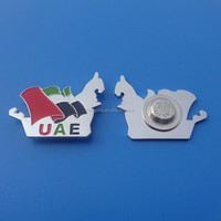 love UAE map and flag metal pin badge, 44th uae national day magnet lapel pin