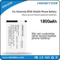 Lithium Battery Rechargeable1800mAh Mobile phone Backup Battery for Motorola