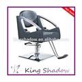 Morden Negro Cutting Chair Salon con reposapiés Salón de ventas de pelo de la silla mobiliario diseñado para el salón