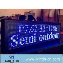 Outdoor screen P20 dual color LED display battery powered led open signs