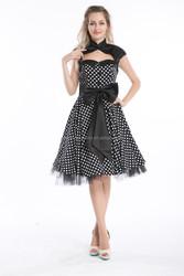 Bestdress Polka Dot Party Prom Dress Retro 50's PINUP ROCKABILLY SWING BRIDEMAID PROM DRESS rockabilly clothing australia