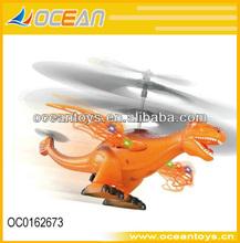 Caliente 2014 3.5ch infrarrojo rc dinosaurio juguetes plano con luz control\auto- show\flap alas