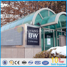 10 years of quality assurance bayer/GE material greenhouse polycarbonate panels/pc sheets