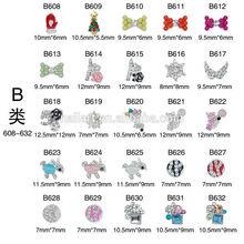 B series New 3D Alloy Rhinestone nail bow tie/ Rabbit / Star / Peach heart/sheep .etc nails