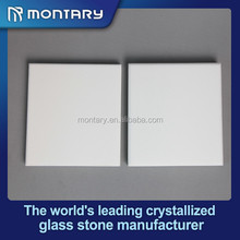 White Free Pore Crystal Glass Floor Tile