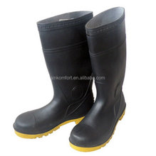 Industry mining safety men PVC steel toe cap work boot