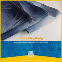 NO.A1540 100 cotton fabirc fashion design textile industry twill cotton flocked denim fabric