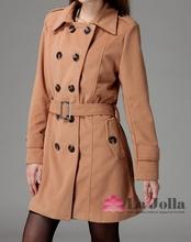 2015 Fashion winter cheap sale women long jacket wool coat OL KoreanDC-199C