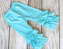 Hot boutique pernickety aqua triple little girls ruffle pants M5040205