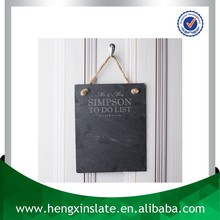 Factory Direct Sales Wholesale Hanging 25*18*0.5cm Rectangle Decorative Writing Slate Board For Sale (Customized Laser Design)
